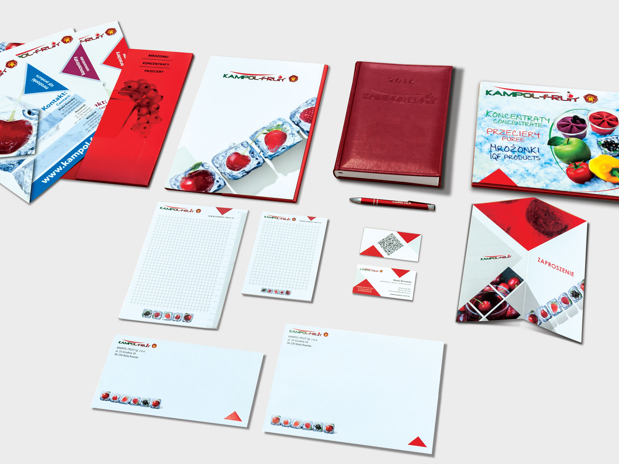 Kampol Fruit office identity